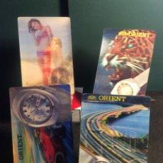Coleccionismo Calendarios: ¡¡ CUATRO !! CALENDARIOS - 1970 - 71 - 72 - 73 - RELOJ ORIENT (VER FOTOS). Lote 180269553
