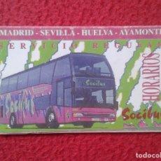 Coleccionismo Calendarios: ANTIGUO PEQUEÑO TRÍPTICO CUADRO DE HORARIOS AUTOBUSES BUS SOCIBUS CON CALENDARIO 1997 LINEA AUTOBUS. Lote 180308050