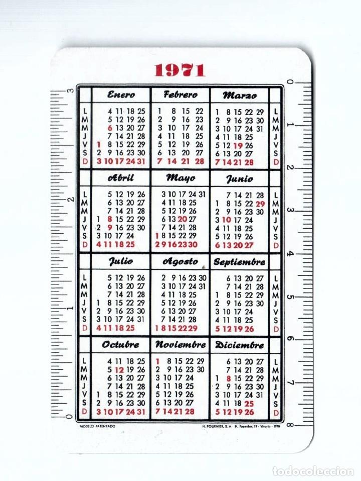 Coleccionismo Calendarios: CALENDARIO FOURNIER. 1971. BANCO BILBAO CHEQUES - Foto 2 - 180349303