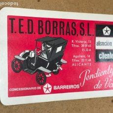 Coleccionismo Calendarios: LOTE COLECCION CALENDARIO BOLSILLO COCHE COCHES TED BORRAS BARREIROS AÑO 1970. Lote 180400105