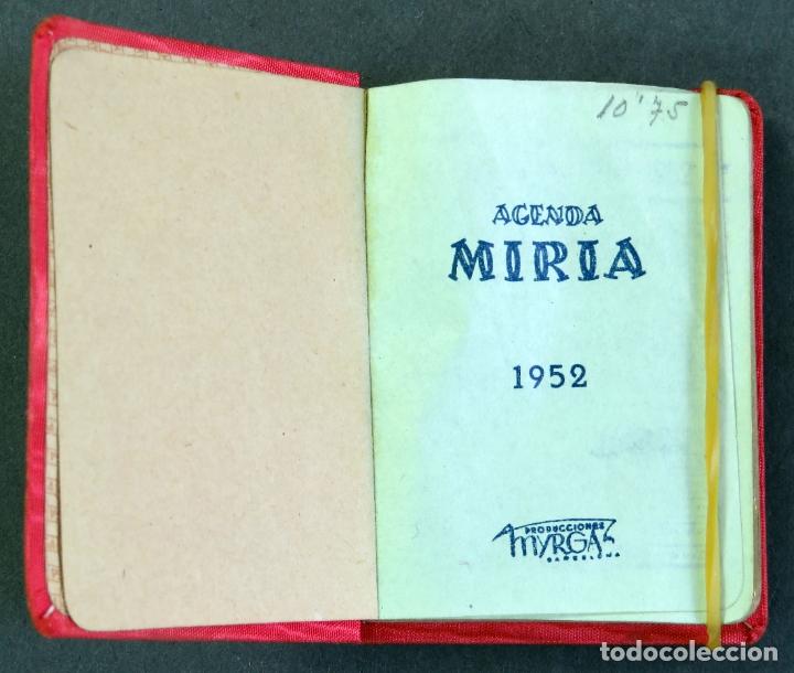 Coleccionismo Calendarios: Agenda bolsillo Miria de Myrga 1952 sin usar - Foto 2 - 180474691