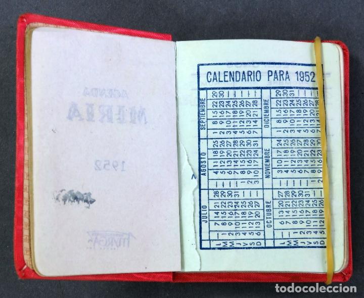 Coleccionismo Calendarios: Agenda bolsillo Miria de Myrga 1952 sin usar - Foto 3 - 180474691