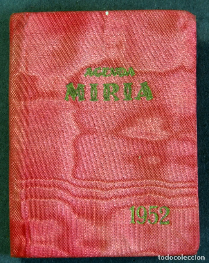 AGENDA BOLSILLO MIRIA DE MYRGA 1952 SIN USAR (Coleccionismo - Calendarios)