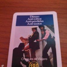 Coleccionismo Calendarios: CALENDARIO DE BOLSILLO - BANCO DE BILBAO - CHEQUES VIAJERO - DINERO ANTIROBOS - 1974 - H. FOURNIER. Lote 180490056