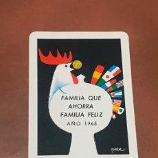 Coleccionismo Calendarios: CALENDARIO BOLSILLO FOURNIER CAJA DE AHORROS NUESTRA SRA. DE MONSERRATE ( ORIHUELA). 1965. Lote 180491902