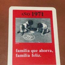 Coleccionismo Calendarios: CALENDARIO H FOURNIER 1971 CAJA DE AHORROS PROVINCIAL DE LA DIPUTACION DE BARCELONA, BUEN ESTADO. Lote 180500861