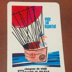 Coleccionismo Calendarios: CALENDARIO FOURNIER. BANCO DE BILBAO. 1966. Lote 180502217
