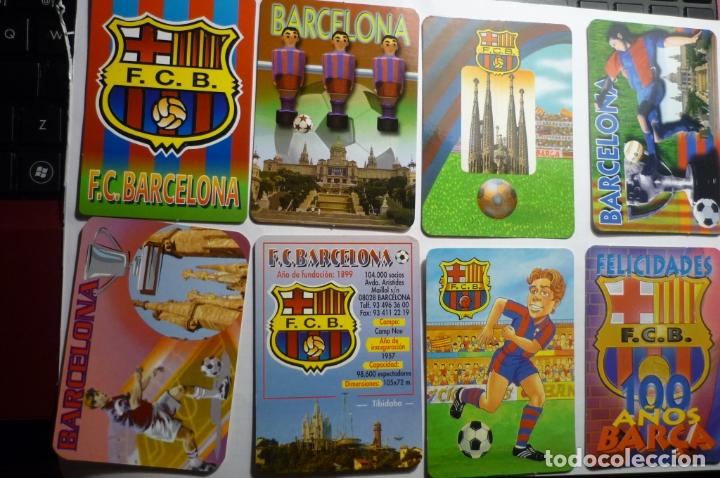 LOTE CALENDARIOS FUTBOL DIF.AÑOS FC BARCELONA (Coleccionismo - Calendarios)