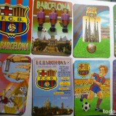Coleccionismo Calendarios: LOTE CALENDARIOS FUTBOL DIF.AÑOS FC BARCELONA. Lote 180507115