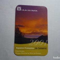 Coleccionismo Calendarios: CALENDARIO CAJA CANTABRIA 2001. Lote 180507186