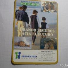 Coleccionismo Calendarios: CALENARIO PREVENTIVA SEGUROS 2001. Lote 180507395