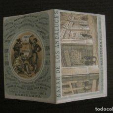 Coleccionismo Calendarios: CALENDARIO BAZAR DE LOS ANDALUCES-BARCELONA-AÑO 1872-VER FOTOS-(V-17.848). Lote 180885971