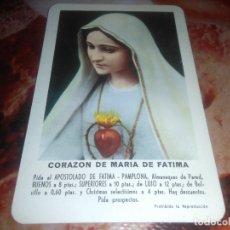 Coleccionismo Calendarios: CALENDARIO CORAZON DE MARIA FATIMA 1961 FOURNIER. Lote 181196268
