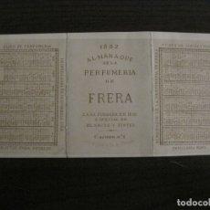 Coleccionismo Calendarios: ALMANAQUE PERFUMERIA DE FRERA-CALENDARIO AÑO 1882-VER FOTOS-(V-17.919). Lote 181419013