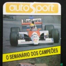 Coleccionismo Calendarios: CALENDARIO DE AUTOSPORT DE 1991. FÓRMULA 1 - RALLYE. Lote 181497666