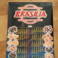 Coleccionismo Calendarios: CALENDARIO PARED BRASILIA 1983. Lote 181573371