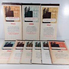 Coleccionismo Calendarios: MATAS RAMIS S. A. 9 EJEMPLARES DE CALENDARIOS. BARCELONA. 1965/1973.. Lote 181700342
