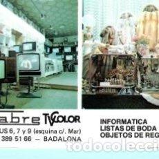 Coleccionismo Calendarios: CALENDARIO DE PUBLICIDAD FABRE DE BADALONA DEL AÑO 1989 ESP . Lote 182010598