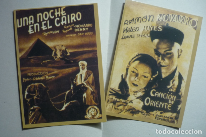 LOTE CALENDARIOS CINE PELICULAS RAMON NOVARRO 1947 (Coleccionismo - Calendarios)