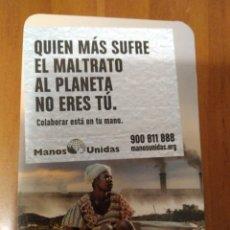 Coleccionismo Calendarios: CALENDARIO MANOS UNIDAS 2020.. Lote 182506475