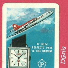 Coleccionismo Calendarios: CALENDARIO FOURNIER RELOJ SUIZO POTENS 1967. Lote 182528398