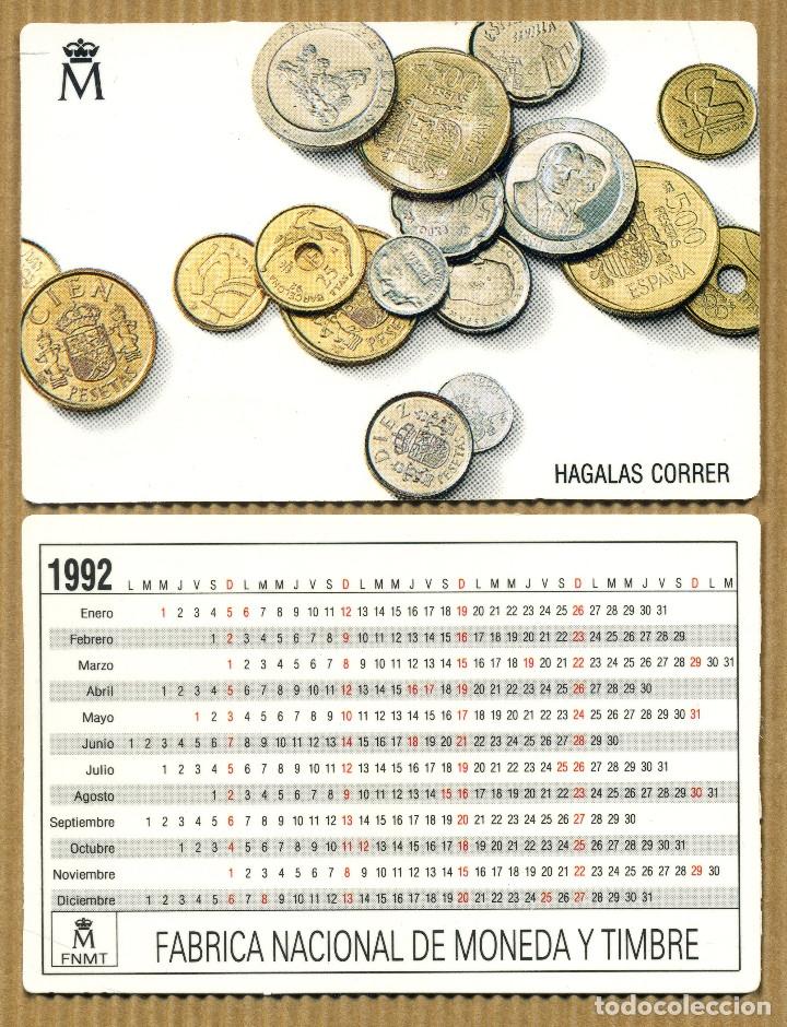 CALENDARIOS BOLSILLO - FABRICA NACIONAL DE MONEDA Y TIMBRE 1992 (Coleccionismo - Calendarios)