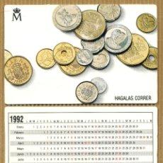 Coleccionismo Calendarios: CALENDARIOS BOLSILLO - FABRICA NACIONAL DE MONEDA Y TIMBRE 1992. Lote 182615192