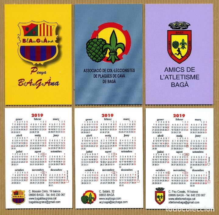 3 CALENDARIOS BOLSILLO - BAGA 2019 (Coleccionismo - Calendarios)