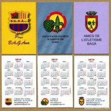 Coleccionismo Calendarios: 3 CALENDARIOS BOLSILLO - BAGA 2019. Lote 182745240