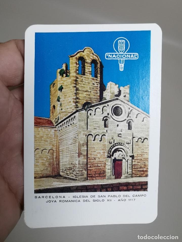 CALENDARIO DE BOLSILLO IGLESIA SAN PABLO DEL CAMPO BARCELONA-1964-- BOMBILLAS NACIONAL --- REF-ZZ (Coleccionismo - Calendarios)
