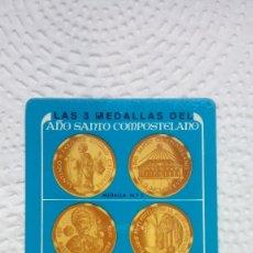 Coleccionismo Calendarios: CALENDARIO FOURNIER LA CAIXA 1976 MEDALLAS DEL AÑO SANTO COMPOSTELANO PERFECTO ESTADO. Lote 183234426