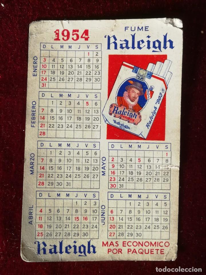 CALENDARIO DE BOLSILLO TABACO RALEIGH 1954 MUY MUY RARO (Coleccionismo - Calendarios)