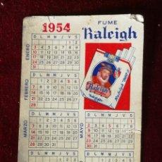 Coleccionismo Calendarios: CALENDARIO DE BOLSILLO TABACO RALEIGH 1954 MUY MUY RARO. Lote 183376392