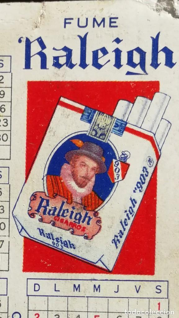 Coleccionismo Calendarios: Calendario de Bolsillo Tabaco Raleigh 1954 Muy Muy Raro - Foto 2 - 183376392