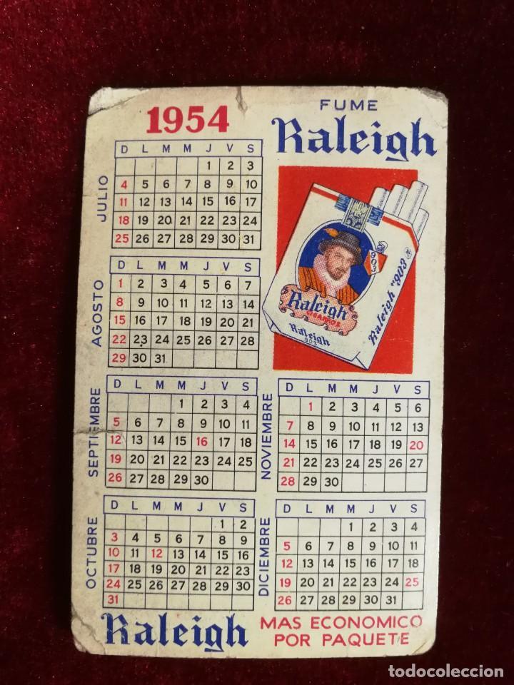 Coleccionismo Calendarios: Calendario de Bolsillo Tabaco Raleigh 1954 Muy Muy Raro - Foto 3 - 183376392