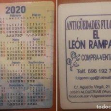Coleccionismo Calendarios: CALENDARIO PUBLICIDAD 2020. Lote 183659531