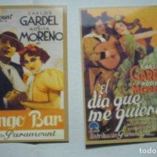 Coleccionismo Calendarios: LOTE CALENDARIOS CINE PELICULAS CARLOS GARDEL 197. Lote 183868565