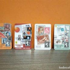 Coleccionismo Calendarios: LOTE DE CUATRO CALENDARIOS DE BOLSILLO FOURNIER PUBLICIDAD COLECCIONES DE SELLOS. Lote 184536591