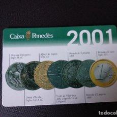 Coleccionismo Calendarios: CALENDARIO 2001 CAIXA PENEDES. Lote 184578270