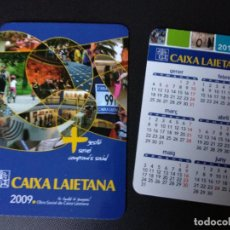 Coleccionismo Calendarios: LOTE 2 CALENDARIOS 2009 Y 2010 CAIXA LAIETANA. Lote 184652183
