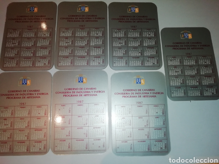 Coleccionismo Calendarios: Calendarios de canarias 1987 gobierno de Canarias consejería de industria y energía artesania - Foto 2 - 184800577