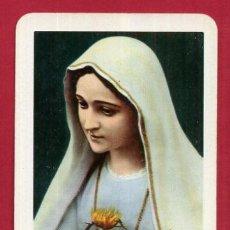 Coleccionismo Calendarios: CALENDARIO FOURNIER PUBLICIDAD CORAZON MARIA DE FATIMA 1961 ORIGINAL , C10382. Lote 185887050