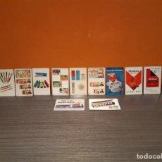 Coleccionismo Calendarios: GRAN LOTR DE CALENDARIOS DE BOLSILLO PUBLICIDAD PELIKAN INTERPLASTIC. Lote 185960442