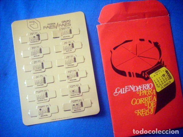 CALENDARIO METALICO CORREA RELOJ 1994 GRUPO FARMACEUTICO FAES RANIDIN VENOSMIL (Coleccionismo - Calendarios)