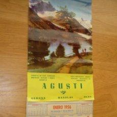 Coleccionismo Calendarios: CALENDARIO PARED, AÑO 1956 - PUBLICIDAD AGUSTÍ, MATERIALES CONSTRUCCIÓN (GERONA, BAÑOLAS, OLOT). Lote 186365965