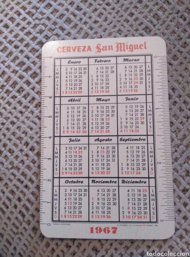 Coleccionismo Calendarios: Fournier 1967 Cerveza San Miguel - Foto 2 - 187165740