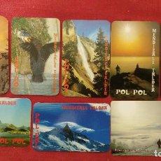 Coleccionismo Calendarios: 8 CALENDARIOS POL-POL MENDIZALE TALDEA DE 1994 A 2004. Lote 211624254