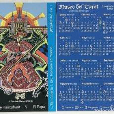 Coleccionismo Calendarios: CALENDARIO PUBLICITARIO. MUSEO DEL TAROT. EL PAPA. AÑO 2020. Lote 187467387