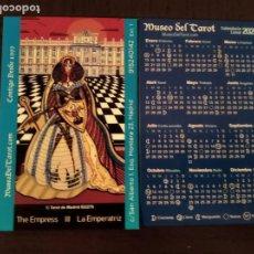Coleccionismo Calendarios: CALENDARIO PUBLICITARIO. MUSEO DEL TAROT. LA EMPERATRIZ. AÑO 2020. Lote 187468122