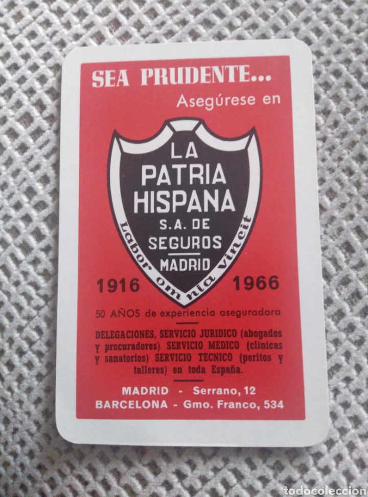 FOURNIER 1966. LA PATRIA HISPANA (Coleccionismo - Calendarios)